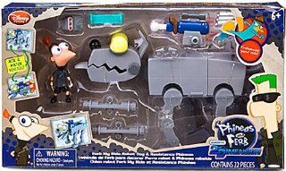 Disney Phineas and Ferb Exclusive Across The 2nd Dimension Playset Ferb My Ride Robot Dog Resistance Phineas Toys & Games