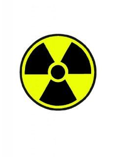 "12"" wide Yellow and black radioactive symbol. Printed vinyl decal sticker for any smooth surface such as windows bumpers laptops or any smooth surface."