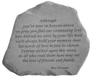 KayBerry Although You're Now In Heaven Memorial Stone Marker Garden Accents   Outdoor Decorative Stones