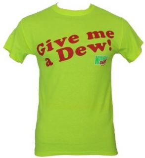 "Mountain Dew Mens T Shirt   ""Give Me A Dew Logo Novelty T Shirt Clothing"