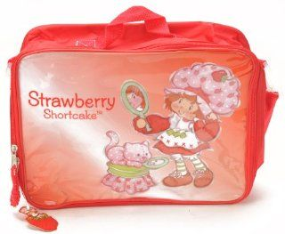 "Birthday Christmas Gift   Strawberry Shortcake Lunch Bag and Mickey Mouse 200 Piece Stickers Set, Size Approximately 14"" X 10"" Toys & Games"
