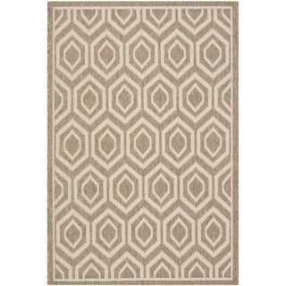 Safavieh Indoor/ Outdoor Courtyard Brown/ Bone Rug (9 X 12)