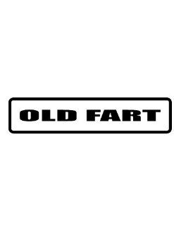 "2"" Helmet Hardhat Printed color old fart funny saying decal/stickers for autos, windows, laptops, motorcycle helmets. Weather resistant vinyl sticker decal for any smooth surface such as windows bumpers laptops or any smooth surface."