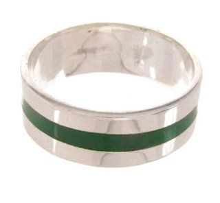 Sterling Silver Malachite Ring Size 8 1/4 PS59543 SilverTribe Jewelry