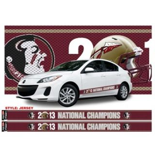 Florida State Seminoles (FSU) 2013 BCS National Champions Jersey Racing Stripes Decals