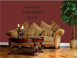 Home Of The Free Because Of The Brave   Vinyl Wall Art Decal Stickers Decor Graphics   Land Of The Free Because Of The Brave Vinyl
