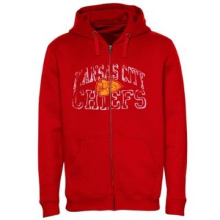 Kansas City Chiefs Big Sizes Touchback Full Zip Fleece Hoodie   Red