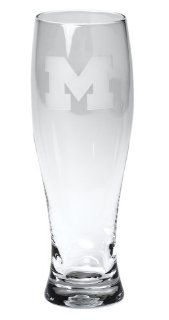 Arthur Court University of Michigan Collegiate Pilsner Glass, Set of 4 Kitchen & Dining