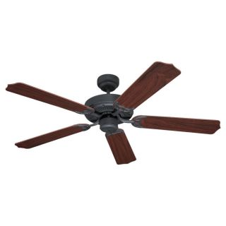 Sea Gull Lighting Quality Max 52 in Weathered Iron Indoor Downrod or Flush Mount Ceiling Fan ENERGY STAR