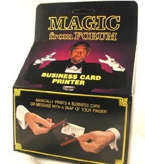 Business Card Printer Magic Trick