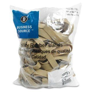 Business Source Products   Rubber Bands, Size 105, lLB/BG, Natural Crepe   Sold as 1 BG   Rubber bands are designed for everyday use and industrial applications. Bands contain 55 percent rubber and some latex, offering 700 percent stretch. Rubber bands onl