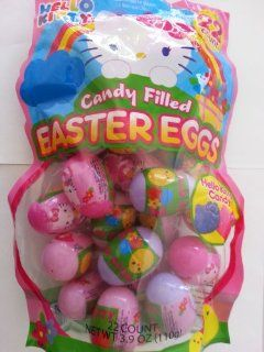 Hello Kitty Candy Filled Easter Eggs   Contains 22 Hello Kitty Shaped Candy Filled Eggs  Toys And Games  Grocery & Gourmet Food