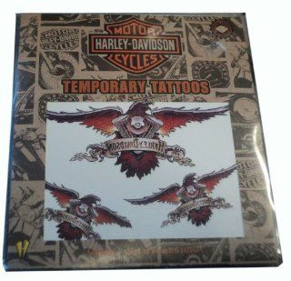 Harley Davidson Motorcycles Temporary Tattoos   Contains 1 Sheet of Assorted Tattoos Health & Personal Care