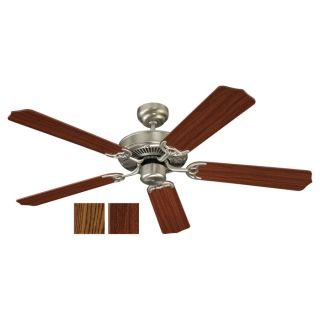 Sea Gull Lighting Quality Max 52 in Brushed Nickel Indoor Downrod or Flush Mount Ceiling Fan ENERGY STAR