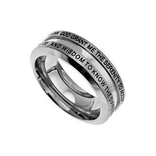 "Christian Mens Stainless Steel Abstinence Proverbs 35, Philippians 47, Joshua 19, Philippians 413, Proverbs 910, 1 Corinthians 130 ""God Grant Me The Serenity To Accept The Things I Cannot Change, Courage To Change The Things I Can. And Wisdom To"