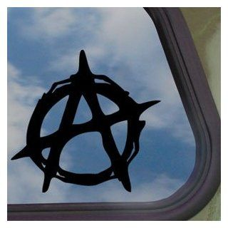 Christian Anarchy Symbol Black Decal Truck Window Sticker   Automotive Decals