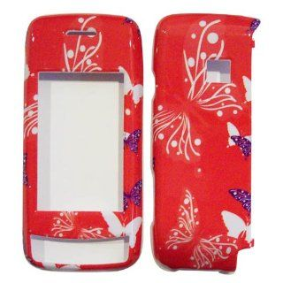 Hard Plastic Snap on Cover Fits LG VX10000 Voyager Butterfly Dot/Hot Pink Verizon (does NOT fit LG VX11000 EnV Touch) Cell Phones & Accessories