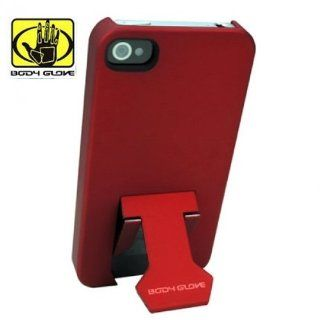 Hard Plastic Snap on Cover Fits Apple iPhone 4 4S Red Body Glove with built in clip/Kickstand AT&T, Verizon (does NOT fit Apple iPhone or iPhone 3G/3GS or iPhone 5/5S/5C) Cell Phones & Accessories