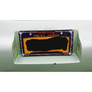 Hello Kitty Glitter License Plate Frame (Made of Plastic) Automotive