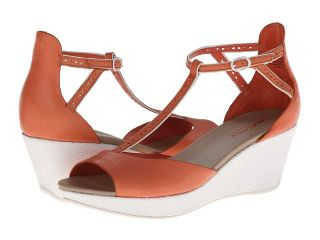 Kenneth Cole Reaction Pop Art Womens Wedge Shoes (Orange)