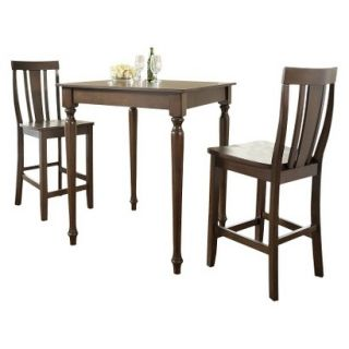 Dining Table Set Crosley Turned Leg Pub Table Set   Mahogany (Set of 3)