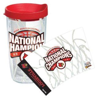 Louisville Cardinals 2013 NCAA Men's Basketball Champs Tumblers Kitchen & Dining