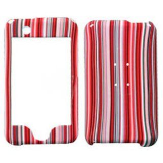 Hard Plastic Snap on Cover Fits Apple iPod Touch Red Stripes (does NOT fit iPod Touch 2nd, 3rd, 4th or 5th generations) Cell Phones & Accessories