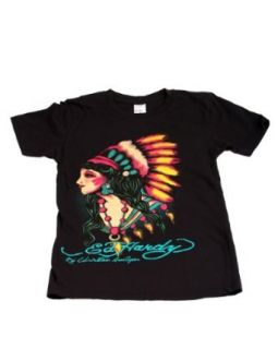 Ed Hardy Kids Girls Native American Woman Short Sleeve T Shirt Clothing