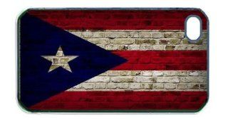 Puerto Rico Flag Brick Wall iPhone 4s Black Case Cell Phones & Accessories