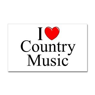 I Love (Heart) Country Music Rectangle Decal by ILoveGiftShop