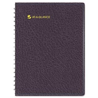 AT A GLANCE Eight Person Group Practice Daily Appointment Book, 8 1/2 x 11, Black, 2014  Appointment Books And Planners