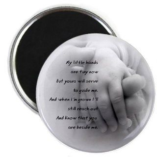 BABY HANDS POEM Newborn Gift 2.25 inch Fridge Magnet  Refrigerator Magnets