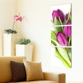 ASIA MODERN ABSTRACT WALL ART PAINTING ON CANVAS NEW Style  (NO FRAME)with Early in the morning of the beads tulip