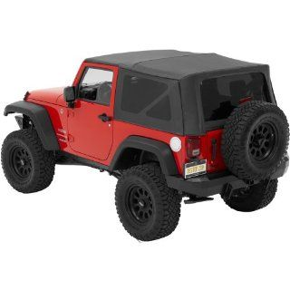 Bestop® 54722 35 Black Diamond Supertop(TM) NX Complete Replacement Soft Topwith Tinted windows  No doors included  2007 2012 Jeep Wrangler (except Unlimited) Automotive