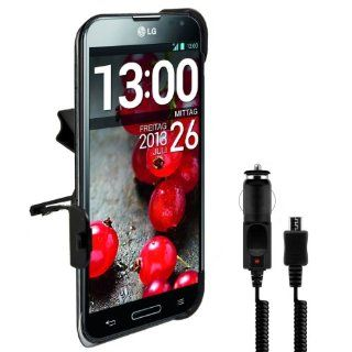 kwmobile Car vent mount for LG Optimus G Pro with perfectly fitting shell + charger   Turn you mobile phone into a navigation device. Quality. Cell Phones & Accessories