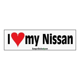 I Love My Nissan   bumper stickers (Large 14x4 inches) Automotive