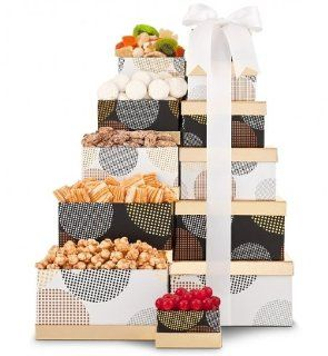Gourmet's Delight Snack Tower. (Our Baskets Are Good For Gift Tower, Gift Basket for Mom, Gift Baskets for Moms Birthday, Gift Baskets for Mothers Day, Get Well Gift Baskets, Gift Baskets for Women, Gift Baskets for Mom, Gift Basket for Women, Gift Ba