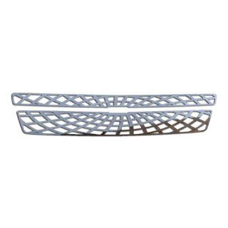 Ferreus Industries   2007 2013 Chevy Suburban Spider Web Polished Stainless Grille Insert Works On All Models (Except Hybrid)   TRK 100 07 02 Automotive