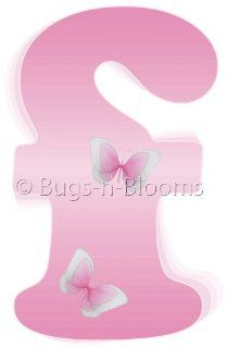 """f"" Pink Butterfly Alphabet Letter Name Wall Sticker   Decal Letters for Children's, Nursery & Baby's Room Decor, Baby Name Wall Letters, Girls Bedroom Wall Letter Decorations, Child's Names. Butterflies Mural Walls Decals Baby Sh"