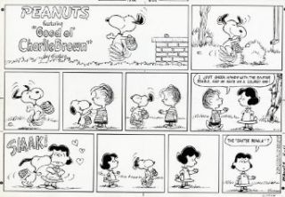 "Peanuts Comic Strips by Charles Schulz   ORIGINAL SUNDAY PHOTOSTAT PRINT   April 11, 1971   ""I just shook hands with the Easter Beagle, and he gave me a colored egg"" Entertainment Collectibles"