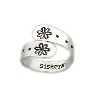 Far Fetched Adjustable Sterling Silver Sisters Ring Far Fetched Jewelry Jewelry