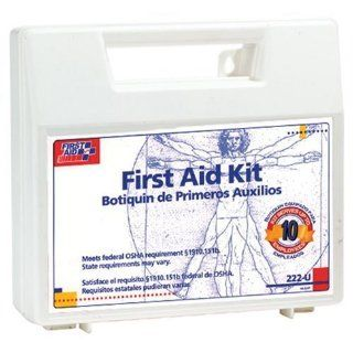 First Aid Only 222U First Aid Kit for 10 People, 62 Pieces, OSHA Compliant, Plastic Case