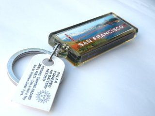 "Key Chain Key Holders, Solar Powered Key Holder Key Ring, Blinking Flash LCD ""Erica"" Message With Attractive ""San Francisco Golden Gate Bridge"" Designs. No Battery Needed, Elegant, Gorgeous Fashion Key Ring, 1"" W x 2 1/4"" L, C"