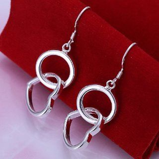 DUMAN Fashion Jewelry Silver Plated Ring Heart Earrings Dangle Earrings Valentine's day, Thanks Giving, Christmas Gifts  Sports & Outdoors
