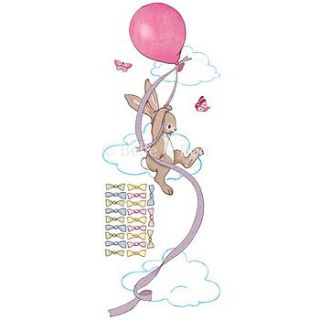 pink balloon height chart wall stickers by belle & boo