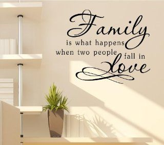 Family is what happens when two people fall in Love Vinyl Decal Matte Black Decor Decal Skin Sticker Laptop  Other Products