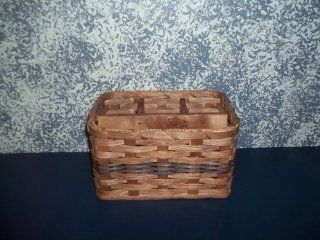 Amish Hand Woven Napkin and Silverware Basket. Pair This with the Lazy Susan Basket and Send Your Country Kitchen Decor up a Notch Think of This Handmade Basket Filled with Silverware and Given As a Gift Basket At a Bridal Shower or Housewarming Party  be