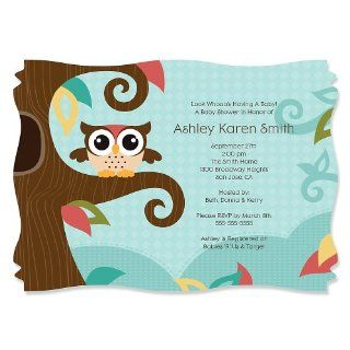 Personalized Baby Shower Invitations   Owl   Look Whooo's Having A Baby Toys & Games