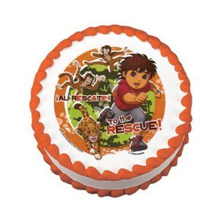 Go Diego Go Edible Cake Image Birthday Party NIP Kitchen & Dining