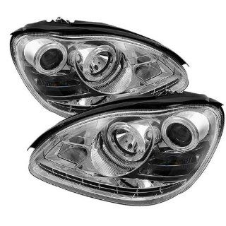 Mercedes Benz W220 S Class 2003 2004 2005 2006 (HID TYPE) DRL LED Projector Headlights   Chrome Automotive